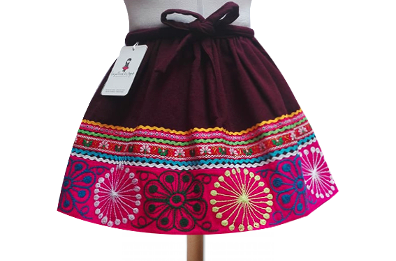 Quispicanchis andean skirt, Size 8