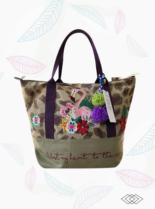 Impermeable beach bag