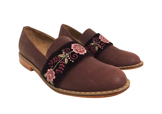 Julianas loafers brown and cherry,  Size 37 - 38