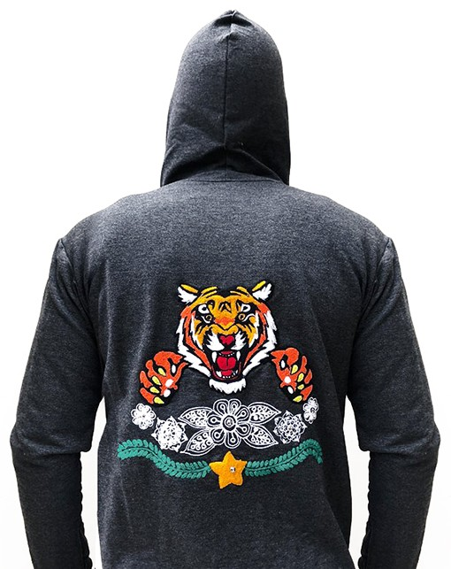 Embroidered jacket with Tiger, Size S - M - L