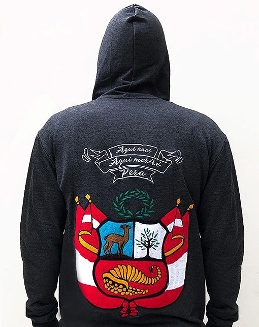Embroidered jacket, with peruvian shield, Size S - M - L