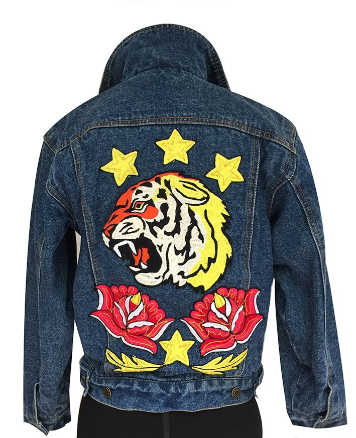 Embroidered jean jacket, Size 10