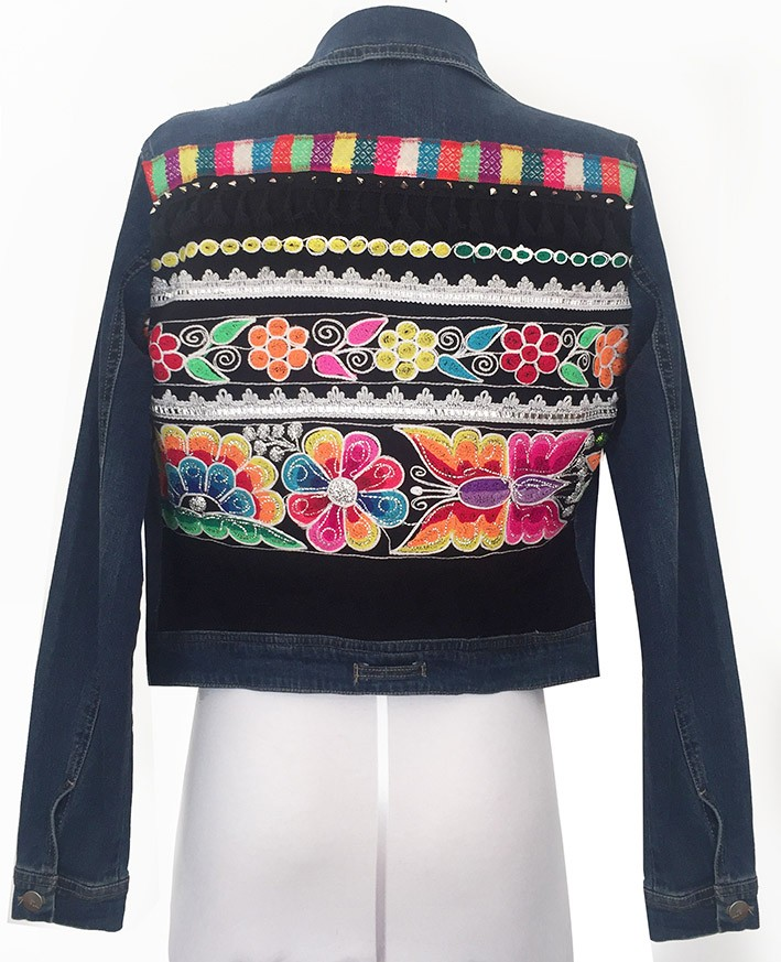 Embroidered jean jacket, Size M