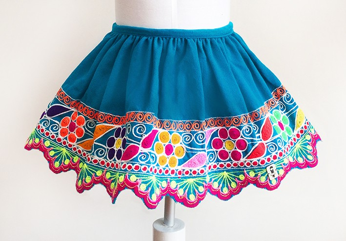 Cusco andean skirt - Size 12-18 m