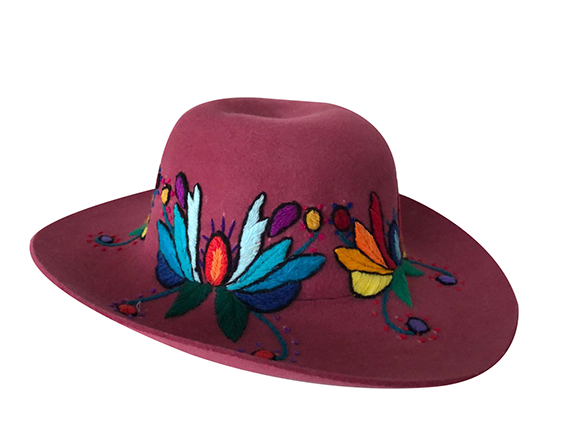 Huamanga embroidery hat,